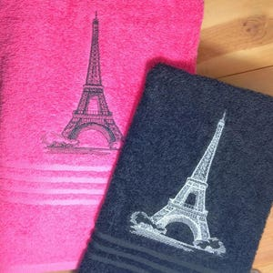 Paris Eiffel Tower Towel~ Hand Towel ~ French Chic Toile Bathroom Decor  Eiffel Tower Towels