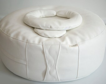 """Little Rascals Bean Bag Ottoman with Crescent Positioning Pillow and 8"""" Circle Pillow  Photo Prop Newborn Photography"""