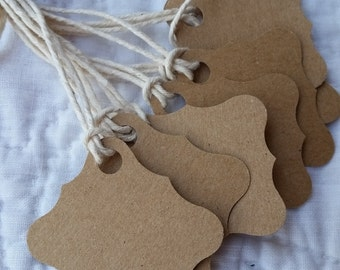 Square Tags - Natural Cardstock - 25