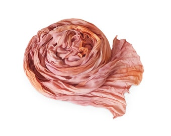 Pink chiffon scarf, pink silk scarf, coral scarf, coral silk scarf, silk scarf, chiffon scarf, womens scarves, crinkle scarf, trending now