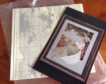 Lavender and Lace Victorian Cross Stitch Design Pack - Nantucket Rose