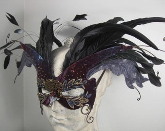 Black Bird Masquerade Mask
