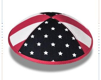 United States flag jewish kippah yarmulke. Wedding - Bar Mitzvah - Shabbat. USA