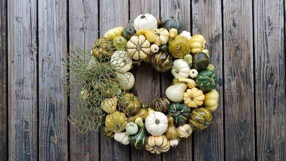Thanksgiving Wreath, Pumpkin and Squash Wreath
