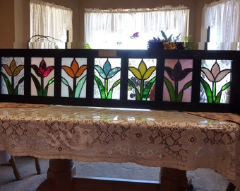 Window Box:Tulips on Parade- Stained Glass Flower