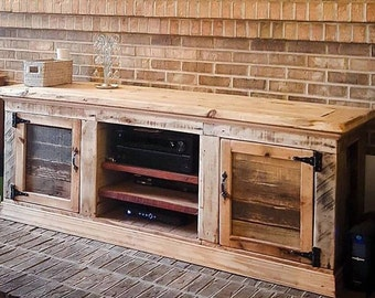 Custom Rustic Entertainment Centre