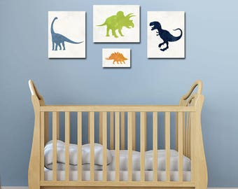 Dinosaur Art - Dinosaur Decor - Dinosaur Nursery - Baby Boy Nursery - Dinosaur Wall Art - Boys Room Decor - Dinosaur Art Print - Nursery Art