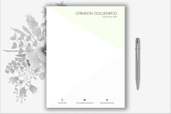 Personalized Letterhead Template Download | Printable Stationery Paper |  Creative Letterhead Editable In Word | Writing Paper
