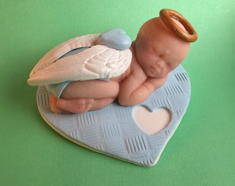 Baby loss memorial, miscarriage sympathy gift, imfamt loss gift, baby boy angel, infant loss keepsake, baby boy angel, baby boy memorial