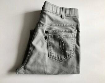 Vintage Men's 70's Gray Levi's, Denim, Straight Leg, Gray Tab (W32)
