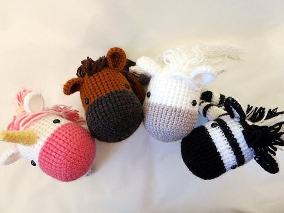 Equine crochet pattern bundle amigurumi horses amigurumi equine crochet pattern bundle amigurumi horses amigurumi patterns cute crochet horse unicorn zebra pegasus softie horse plush toy dt1010fo