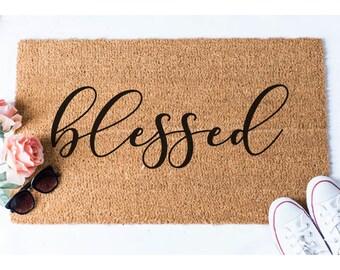 Blessed Doormat - Welcome Mat - Welcome Door Mat - Cute Door Mat - Unique Doormat - Doormats - Hello Mat - Cute Doormat - Blessed Decor