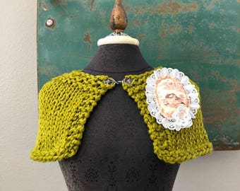 He-Loves-Me Capelet - One of a Kind - Ready to Ship