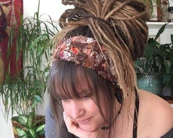 Pixie Head Band, Hair Band, Dread Band, Dread wrap, Fairy lace, dreadlocks accessories, hair accessories, festival wear