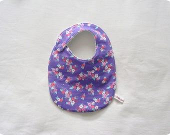 Violet perfume theme baby bib