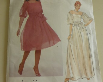 Vintage Vogue American Designer Pattern 2983 Jerry Silverman  Misses Size 12 Party Dress