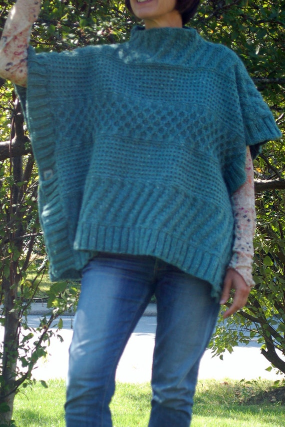 Lexie Poncho Knitting Pattern Easy To Knit Knit Poncho Textured