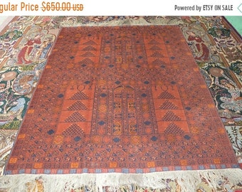 41% OFF FLAT SALE Vintage Hachulu Purda Turkman Carpet