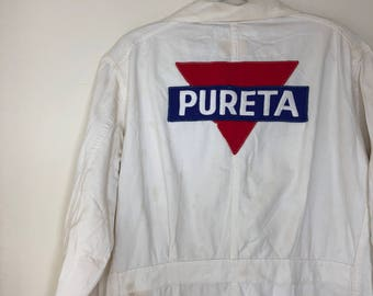 1950s Pureta Linen Lab Coat