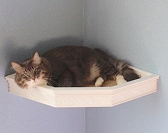 Cat Wall Corner Bed/Shelf Floating Heirloom Style Moulding