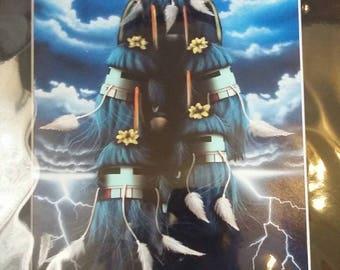 Rain & Lightning - reprint of painting by David Dalasohya
