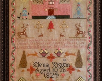 Elena Tratman 1824 Reproduction Sampler Chart