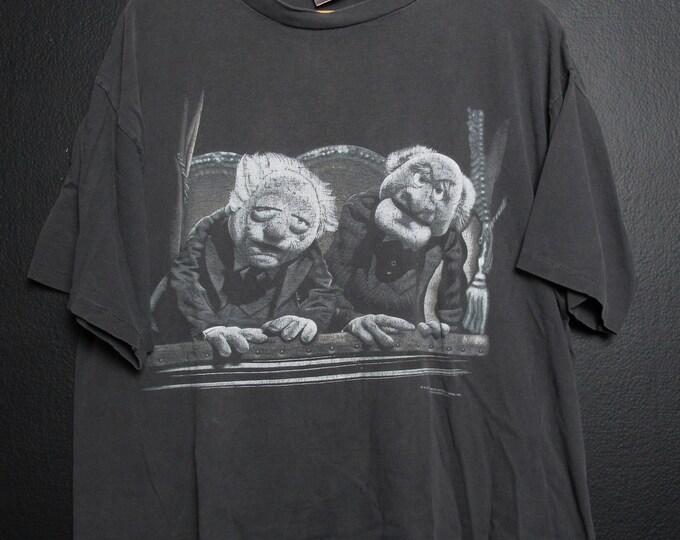 Statler & Waldorf MUPPETS Jim Henson Vintage 1990s tshirt