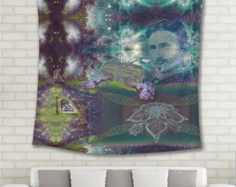 """Gifting Experiences  Wall Tapestry  55""""x55""""  (not an actual photo, contrast and resolution is clear on tapestry!!!)"""