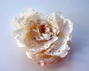SALE 30% - Use coupon code 302015AUG    Fabric brooch - hair accessory in ivory