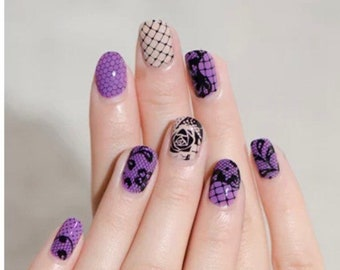 Nail Art Stamping Plate Lace Rose Flower Nail Art Stamp Template