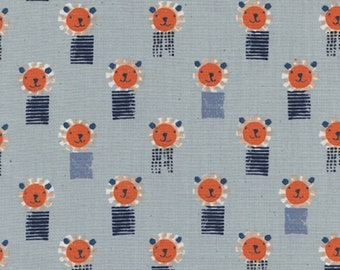 Cotton + Steel - Sunshine Collection - Lions in Blue