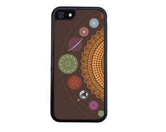 Fun Planets Illustration Case Design For iPhone 5/5s, 5c, 6/6s, 6/6s Plus, 7, 7 Plus, 8 or 8 Plus..
