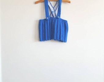 Vintage Royal Blue Knit Skirt
