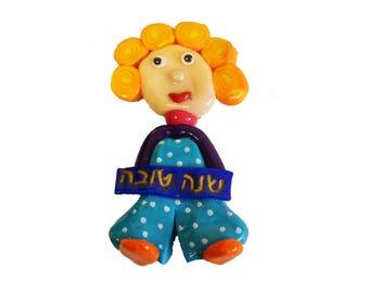 Rosh Hashana gift, Shana Tova Magnet, Hebrew new year, Jewish gifts, Jewish New Year, Fridge Magnets, Judaica art, Rosh Hashana, Magnet