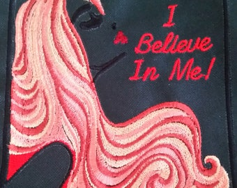 "I Believe In Me!! Collection - Inspirational Embroidered Art Collectible Pieces - 3.5""x3.5"" - Iron-On Patch - Dream - Inspire"