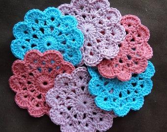 set of 6 crochet coasters