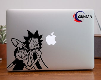 Rick and Morty Authentic Vinyl Sticker - Mac - iPhone - PC - Car ... Etsy by Crivean