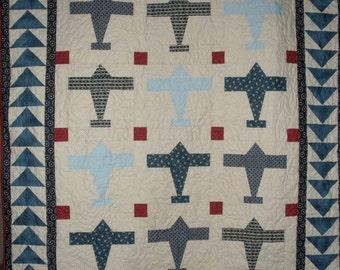 Airplane Quilt Pattern - Digitial Download