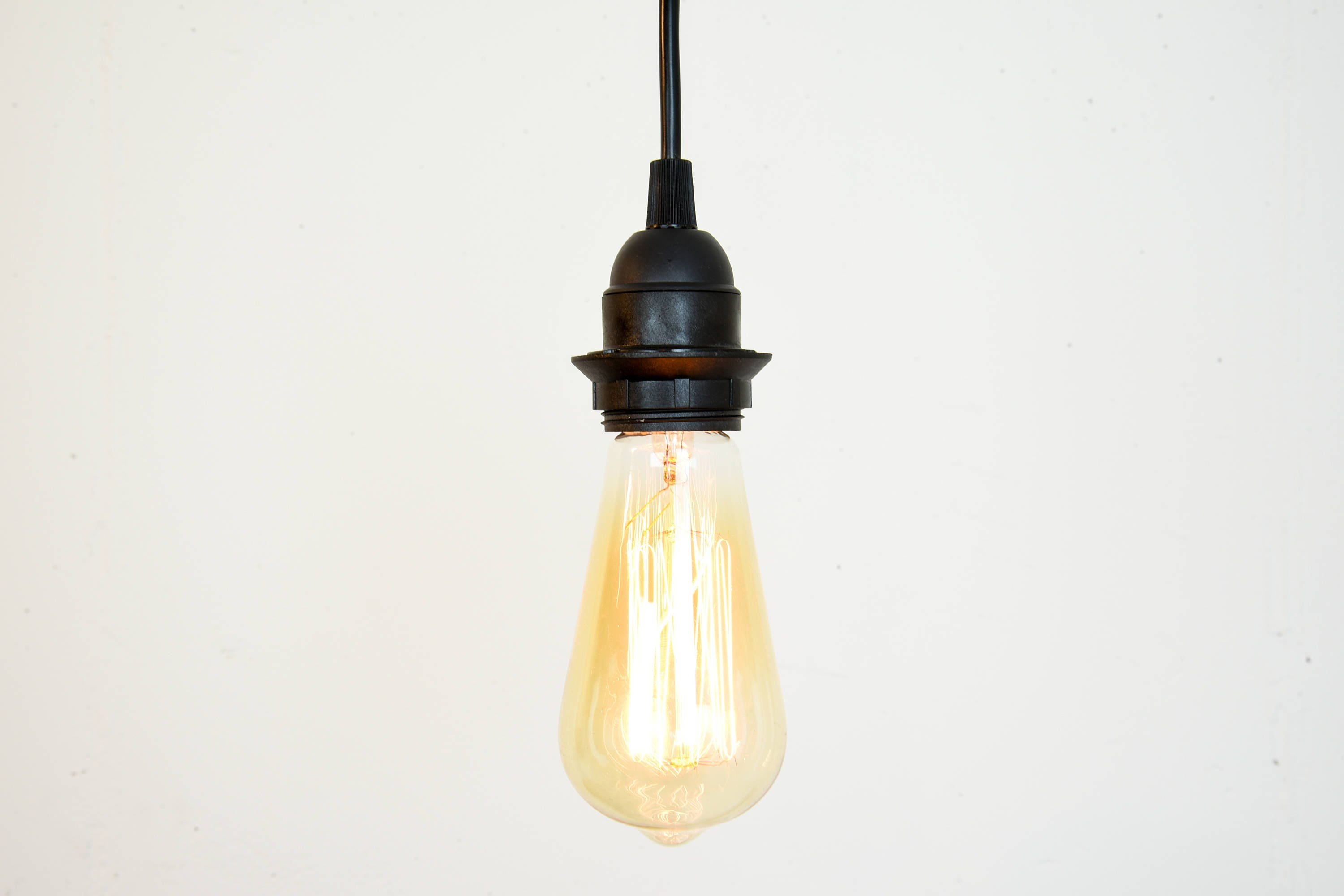 Black pendant light plug in or hardwired hanging cord set aloadofball Image collections