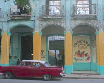 CUBA ,Havana Vintage Car- Photograph Print- 18 % Net - Help Homeless Youth- Cuba Photos
