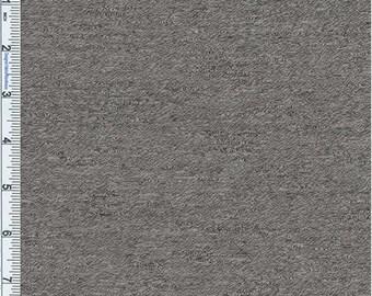 Grey Marled Slub Jersey Knit, Fabric By The Yard