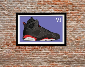 Illustration print - Jordan 6 of my Jordan sneakers series