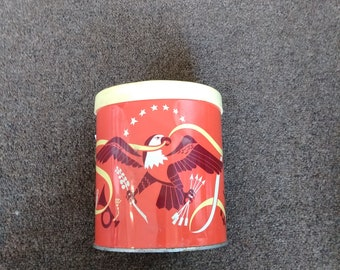 Vintage American Tin Canister