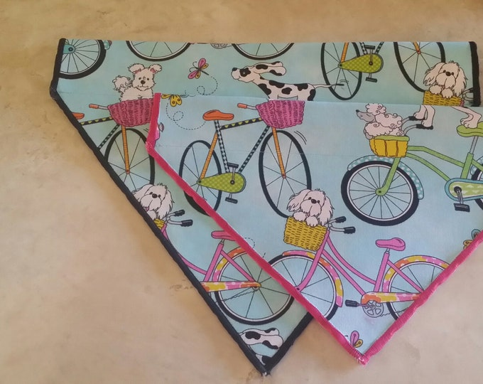 PET BANDANAS-Dog n' Cat-Dogs on Bicycles