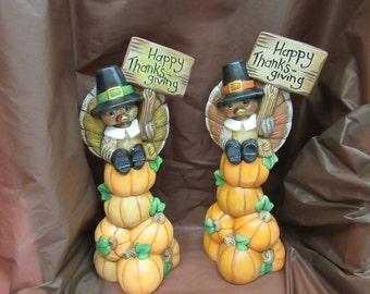 Pile de Thanksgiving heureux