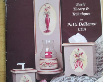 "Folk Art 1999 Decorative book ""  Acrylic Blending"" by Patti DeRenzo CDA 54 pages used book"
