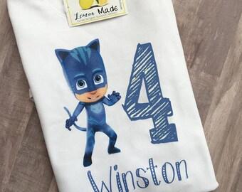 PJ Masks Catboy birthday boy t shirt with name