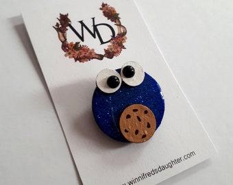 Cookies for Breakfast Wearable Art Brooch by Winnifreds Daughter