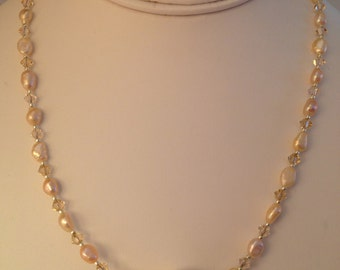Champagne Freshwater Pearl Necklace.