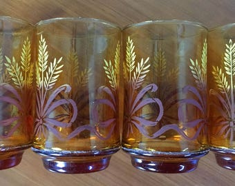 Libbey Gold Bounty Juice Glasses - Set of 4